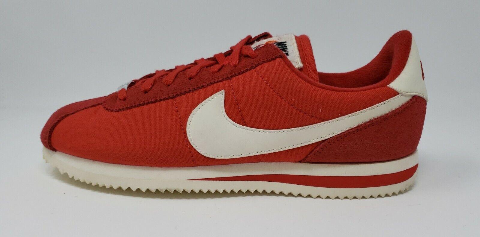 Nike Men's Classic Cortez Cortez Cortez PRM Sz 9 NEW 882255-600 Team Red White 997167