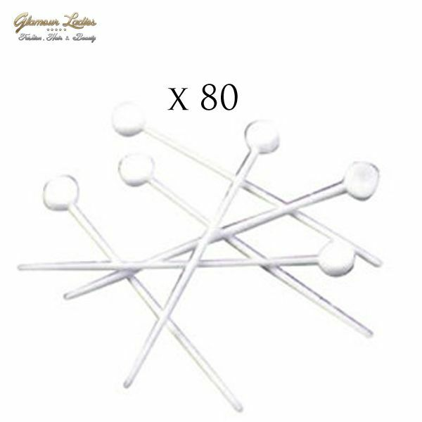80 x Plastic Hair Roller Pins White THIN, Pins For Hair Rollers
