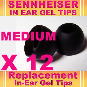 12 Sennheiser Cx IE en auriculares auriculares auriculares auriculares de gel Tips Mediano  </span>