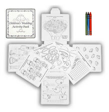 4 Activity Pack Wedding Childrens Crayons Drawing Colouring Book