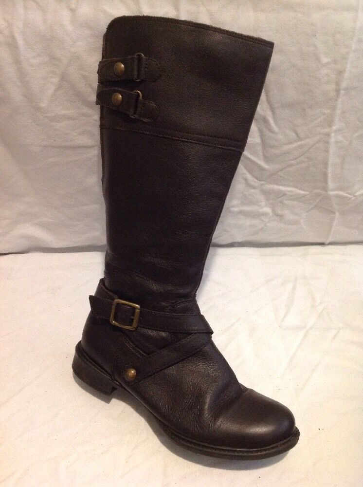 George Brown Knee High Leather Boots Size 5