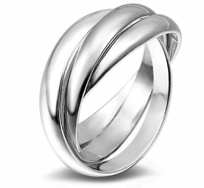 UK seller. solid Sterling Silver new Infinity band style ring