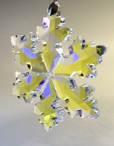"""Details about  /Crystal AB Prism Snowflake Hanging Ornament Window Suncatcher XL 89mm 3.5"""""""