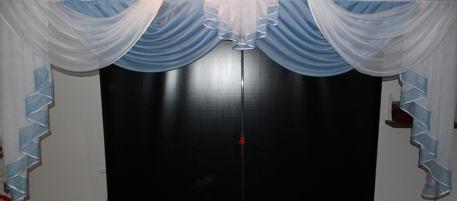 Deko - Gardine, Gardine, Gardine, Store, Vorhang in der Farbe blau   weiss   Billig  4c4b8f