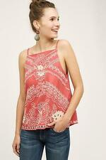 NEW ANTHROPOLOGIE Size 8 $128 Terracotta Tank Vanessa Virginia Orange Womens Top