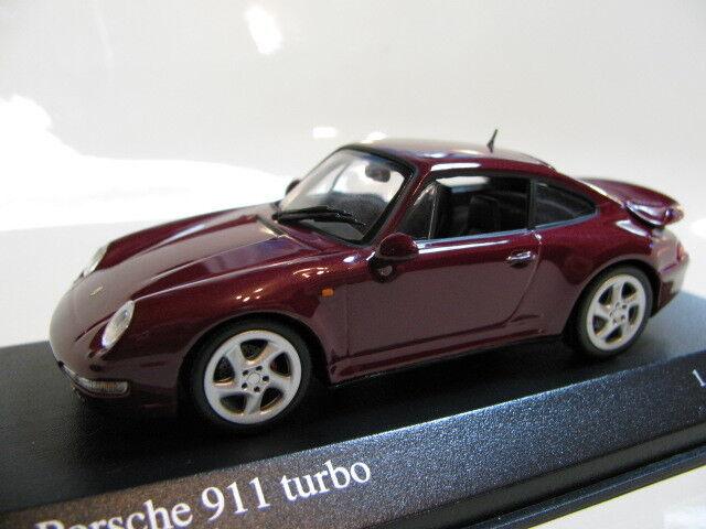 1 43 Minichamps Porsche 911 turbo (1995) rosso Metallic diecast