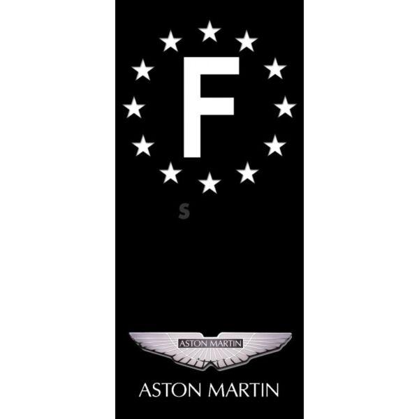 Stickers Plaque d/'immatriculation Victory Fond Noir 4 pièces Auto Moto