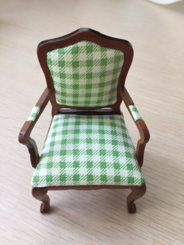 1//12 Dollhouse Furniture Single Armchair Made of Cloth/& Wood JL0431