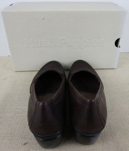 HUSH PUPPIES H502898 MAJESTIC WOMEN/'S BROWN LEATHER SHOES NEW IN BOX