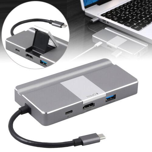 8-In-1 Type C Hub USB C Hub TOTU with Ethernet Port 4K USB C to HDMI NEW