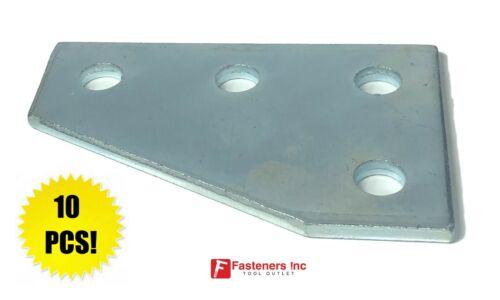 4-Hole Flat Plate Corner Gusset Fitting 4 Unistrut Channel #4626 P1380 QTY 10
