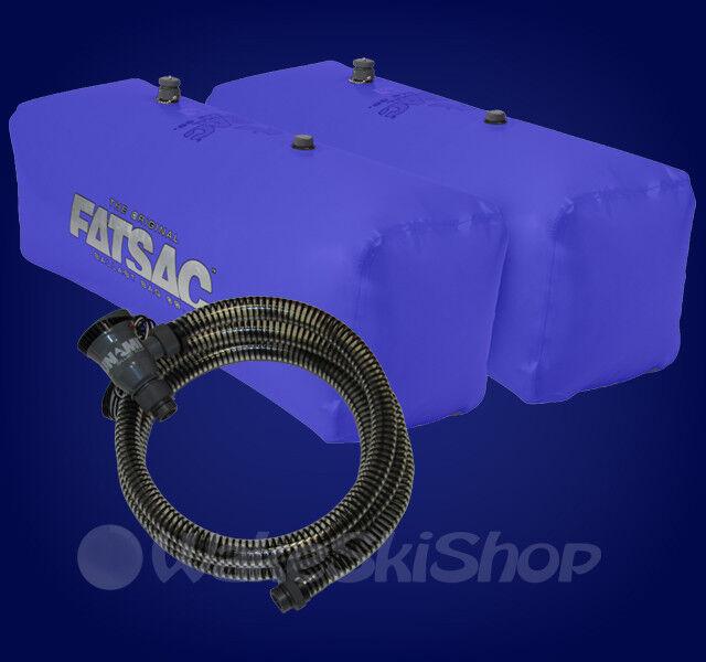 FAT SAC V-DRIVE WAKEBOARD BOAT BALLAST BAG SET AND PUMP - blueE W701 W709-SUPA