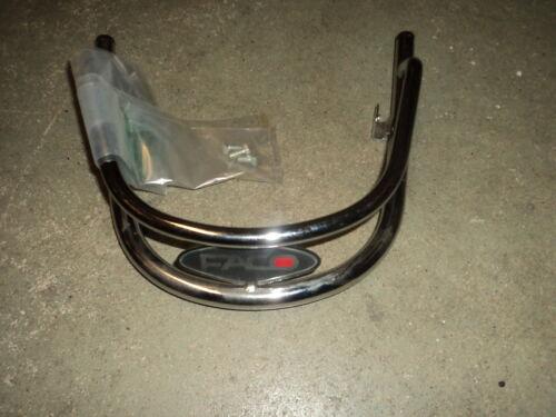 Vespa LX 50 Shock Protector, crash bar crome Front Von Faco
