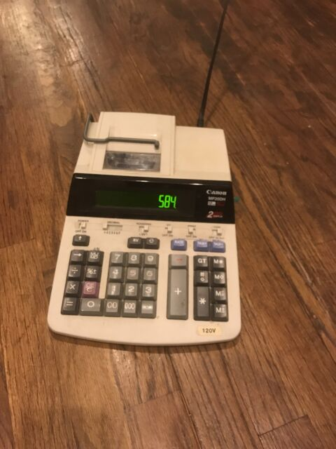 Canon MP20DH II 2 color Printing Tax Business Calculator GREAT CONDITION