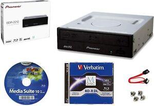 Pioneer BDR-2212 Internal 16x Blu-ray Writer S/W + 50GB M-DISC+Cable+Screws