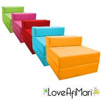 Childrens Fold Out Guest Z Bed Sofa Chair Kids Sleepover Futon Sleeping Mattress