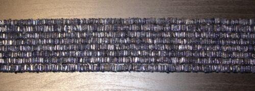 Iol-b5 edelsteine24   Iolith Edelstein Strang 4eckig Scheiben flach 5,2mm// 41cm