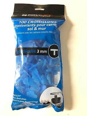 destockage 200 croisillons 3 mm en T à visser système auto nivelant pavilift