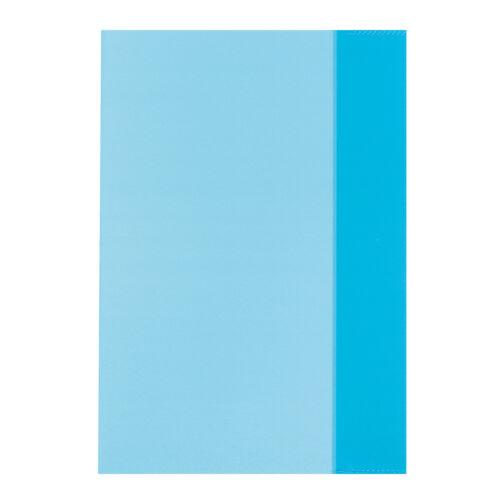 10 Herlitz Heftumschläge Hefthüllen DIN A5 transparent blau Farbe