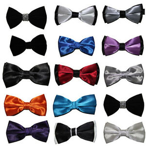 Classic-Velvet-Satin-Bow-Ties-Quality-Smart-Wedding-Bow-Ties-Party-Work-Trendy