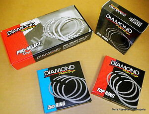 Diamond-Piston-Rings-0908-4010-4-010-034-Bore-043-043-3mm-Plasma-Moly-Top