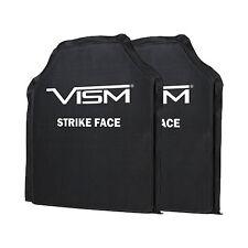 "VISM Ballistic UHMWPE Soft Panel Shooters Cut 10""X12"" Body Armor Level IIIA SET"
