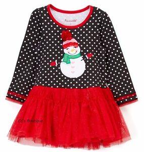 Girls NANNETTE tutu dress 6 NWT penguin tulle red Christmas applique lace