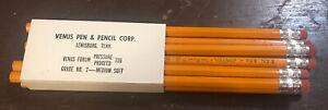 10-Vintage-VENUS-FORUM-Pressure-Proofed-739-No-2-Lead-Pencils-New-Unused
