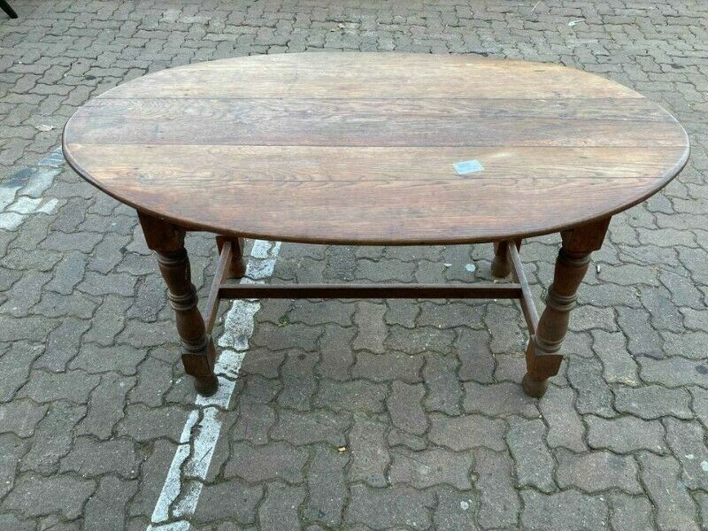Wooden Oval Dining Table