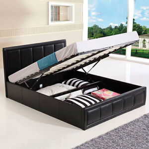 Sensational Details About Storage Bed Ottoman Gas Lift Double King Size Leather Beds Memory Foam Mattress Onthecornerstone Fun Painted Chair Ideas Images Onthecornerstoneorg