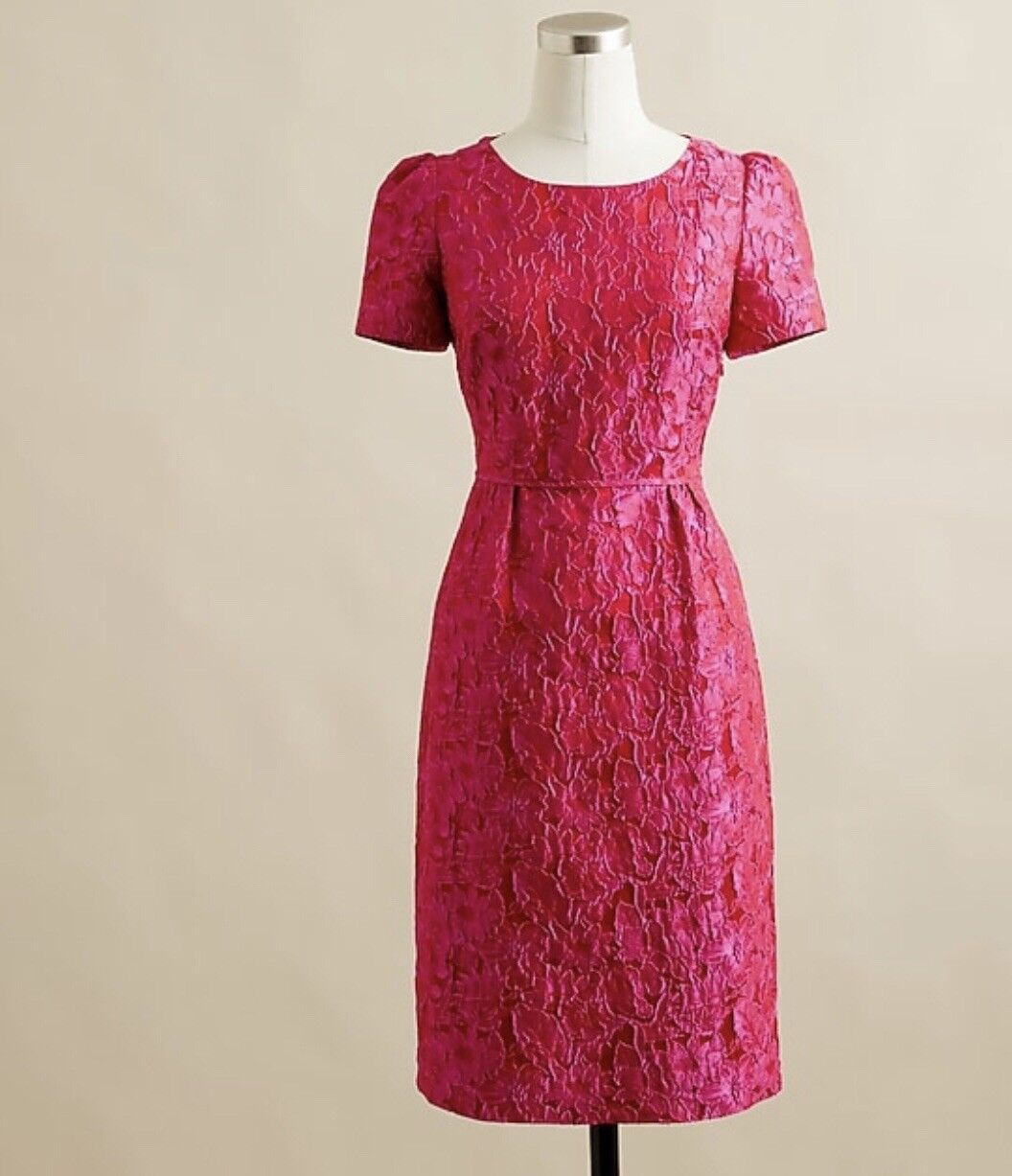 JCREW MARLA DRESS IN GARDENIA JACQUARD - SIZE 00- SOLD SOLD SOLD OUT   be3f88