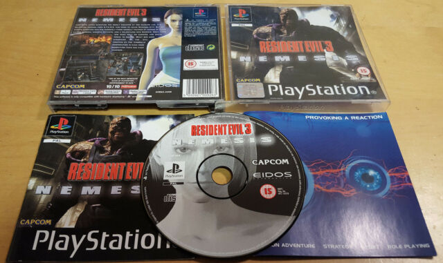 RESIDENT EVIL 3 NEMESIS for SONY PLAYSTATION 1 PS1, PS2 & PS3 COMPLETE Capcom