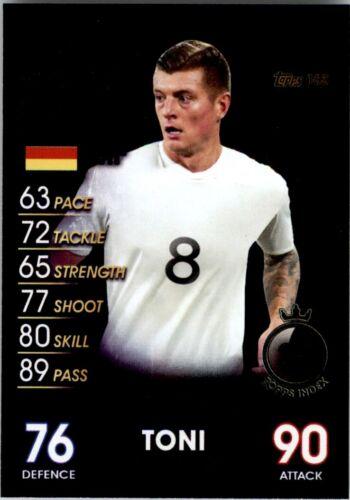 Nº 163 Topps Match Attax 101-Toni Kroos Alemania estrellas mundiales