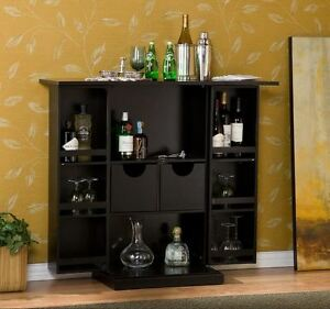 Image Is Loading Liquor Storage Cabinet Mini Bar Home Buffet Bottle