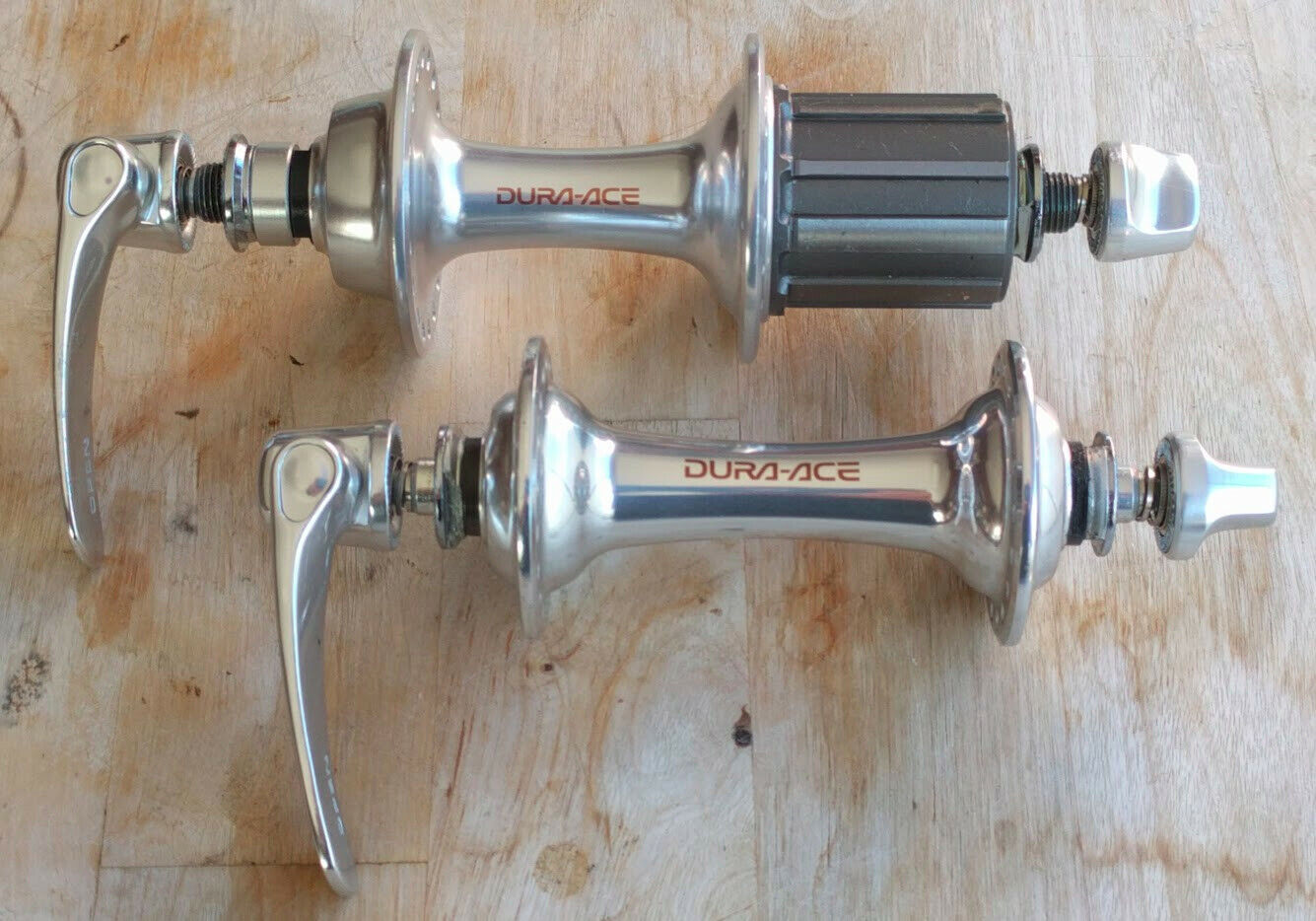 Dura Ace Hub  set 7700 titanium Shimano 36 holes 130mm Vintage Bicycle NOS  in stadium promotions