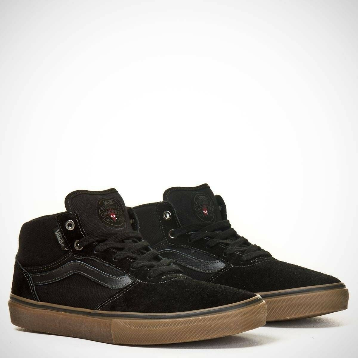 VANS Gilbert Crockett Pro Mid noir /Gum Skate Chaussures hommes 6.5 femmes 8