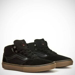 eab44ca6572e VANS Gilbert Crockett Pro Mid Black Gum Skate Shoes MEN S 6.5 ...