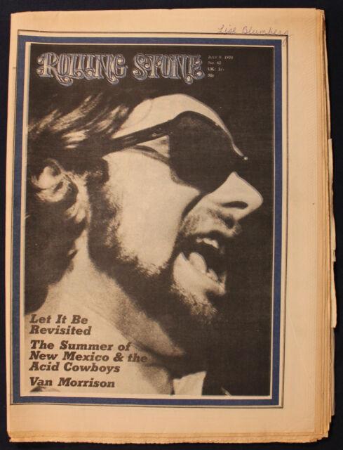 Original July 9, 1970 #62 Rolling Stone Magazine Beatles