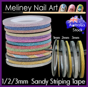 1-2-3mm-Sandy-Glitter-Striping-Tape-Nail-Art-Stickers-decoration-Washi-Dispenser