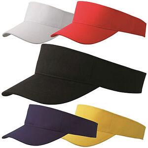 Details about Yellow Red White Black Blue Plain Sun Visor Lifeguard Sports  Golf Cap Tennis Hat 4fac74dcfcf