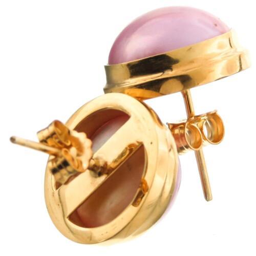 2.7cm Pink Mabe Perle Vergoldet 925 Sterlingsilber Post Ohrringe