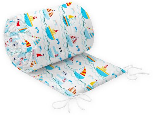 BUMPER ALLROUND COT COTBED CRIB BABY BEDDING 100/% COTTON 90X40 120x60 140x70