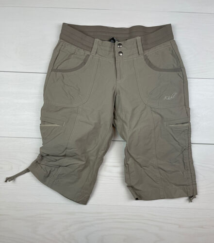 Ladies cropped crop capri style walking hiking trousers size 8,10,12,14 BLACK