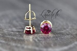 1-0-ct-Round-Cut-Ruby-Screw-Back-Earring-Studs-14K-Yellow-Gold