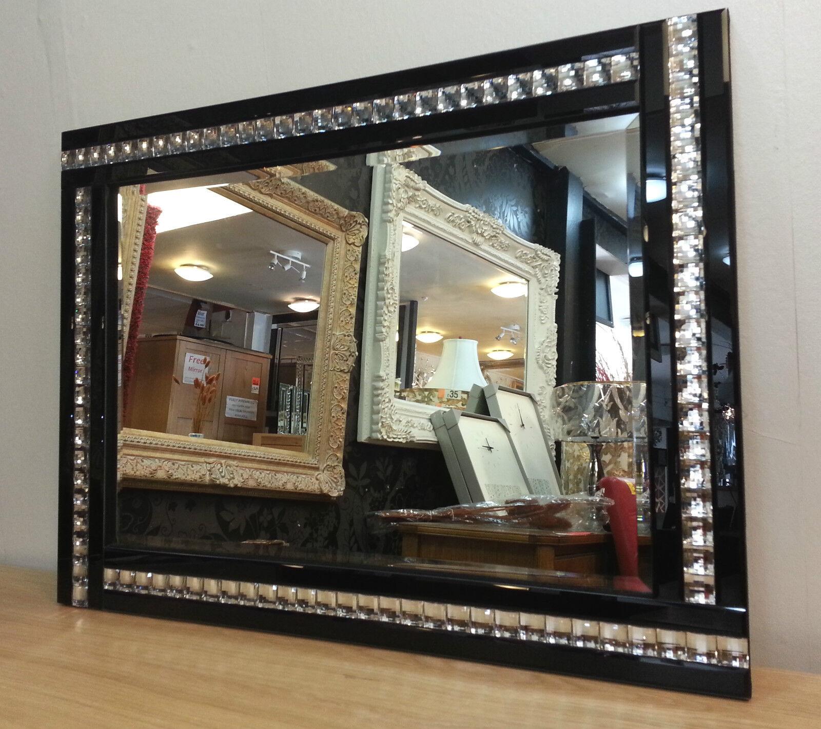 Neue Moderne Kunst Deko Acryl Kristall Glas Design Abgeschrägt Spiegel 120x80cm