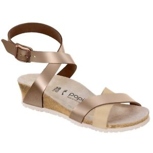 ba47bc33e7 Image is loading REDUCED-Papillio-by-Birkenstock-LOLA -Leather-Frosted-Metallic-