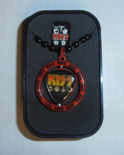 KISS Metal Spinning Center Necklace and Collector Box BRAND NEW