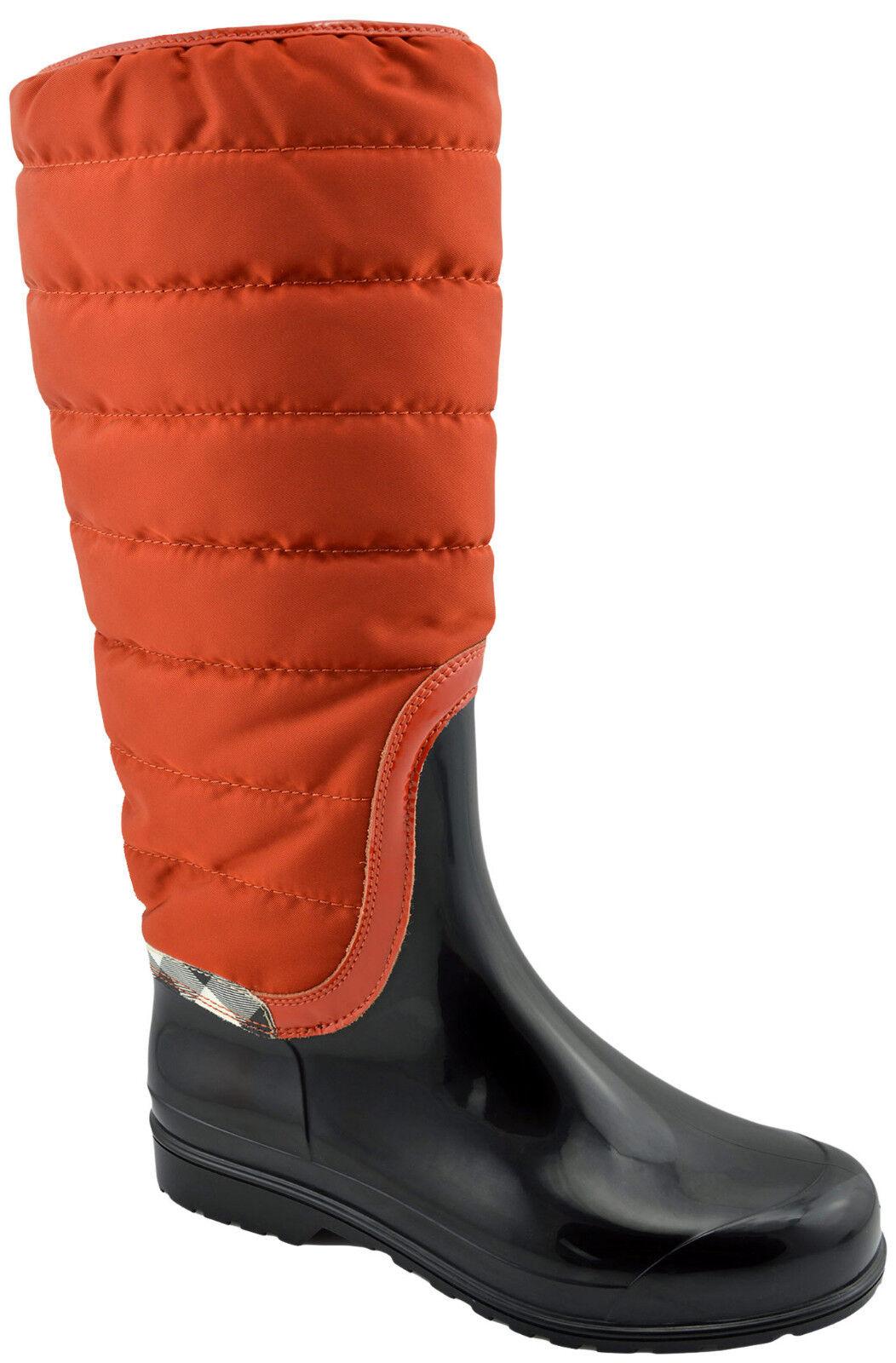 495 Burberry Negro Mandarina cheque Nova Nova Nova Esquí Vernon para mujeres botas De Lluvia  hasta un 60% de descuento