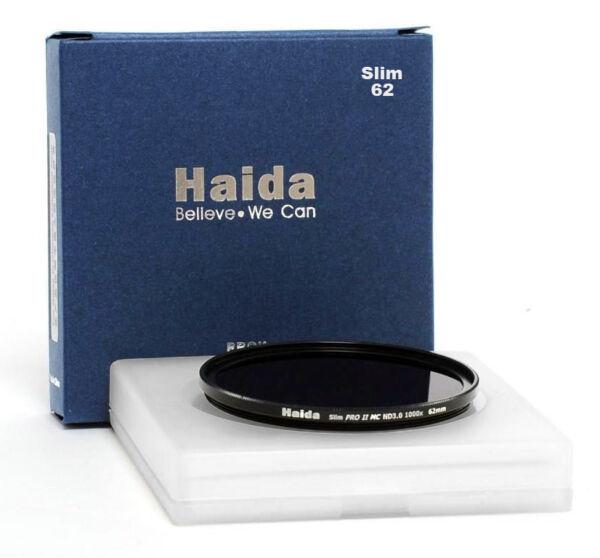 Adroit Compacte Haida 62 Mm Pro Ii Mc Nd3.0 1000x Nd1000 Densité Neutre Gris Filtre Hd2019