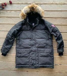 Canada-Goose-Emory-Down-Parka-with-Fur-Hood-Black-Men-039-s-2XL